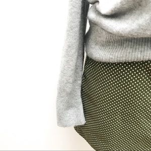 J Crew Polka Green & White Dot Mini Skirt - 10